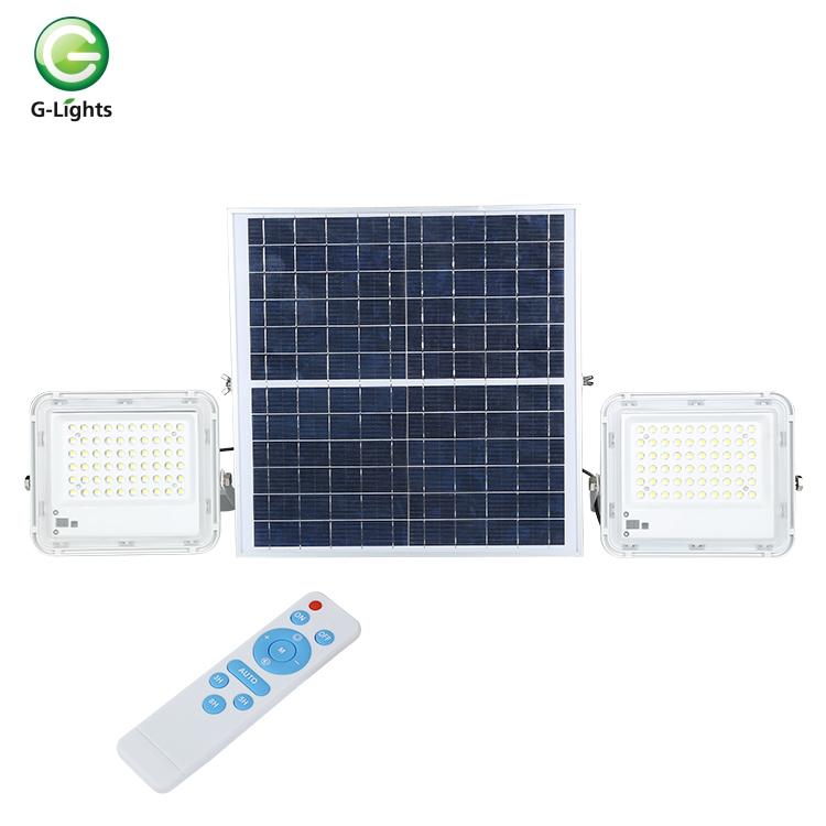 IP68 outdoor waterproof 60w 100w 150w stage sport energy saving aluminum ground portable led solar flood light