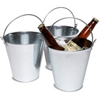 Bucket Decorations Large Capacity Custom Logo Metal Aluminum Ice Bucket Pails For Beer Drinks And Party Decorations