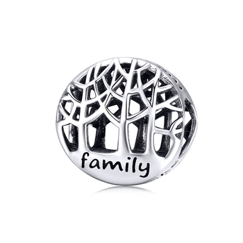 Qings Tree Of Family Charms OEM/ODM 925 Sterling Silver Family Charm Pendant With High Quality