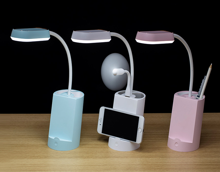 Wholesale multifunctional desk table lamp low price with pen container