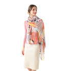 Pattern Scarves March New Trade Festival Wholesale Pattern Spring Polyester Scarf For Women