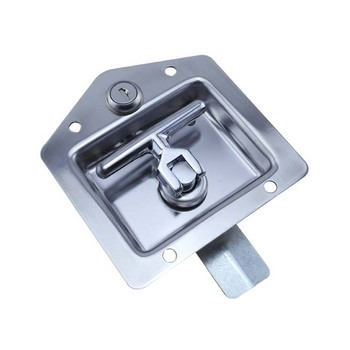 Stainless Steel Flush Mount Key-Locking Recessed Door Latch