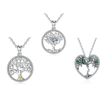 925 sterling silver spiritual gemstone family tree of life necklace pendant