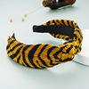 04# Black Yellow Knotted Headband