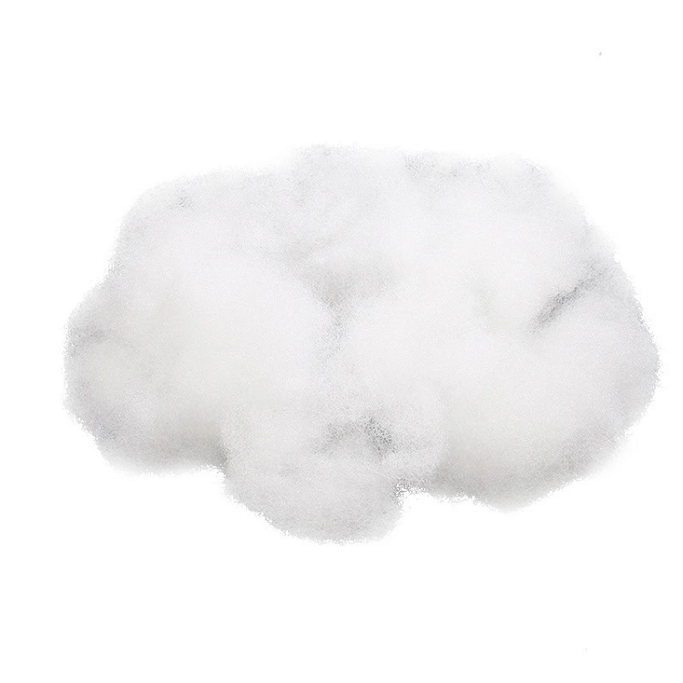 polyester staple fiber for padding poly fill cotton polyfill flame retardant polyester fiber