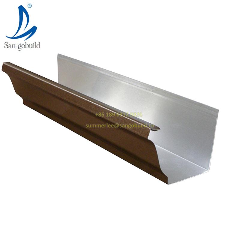 Типы кровельного дренажа, металлический водосточный желоб, система сбора, полукруглые медные водосточные желоба K-style, квадратный медный водосточный желоб и труба для крыши