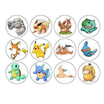 Custom home decoration children die cut sheet adhesive vinyl cartoon POKEMON sticker