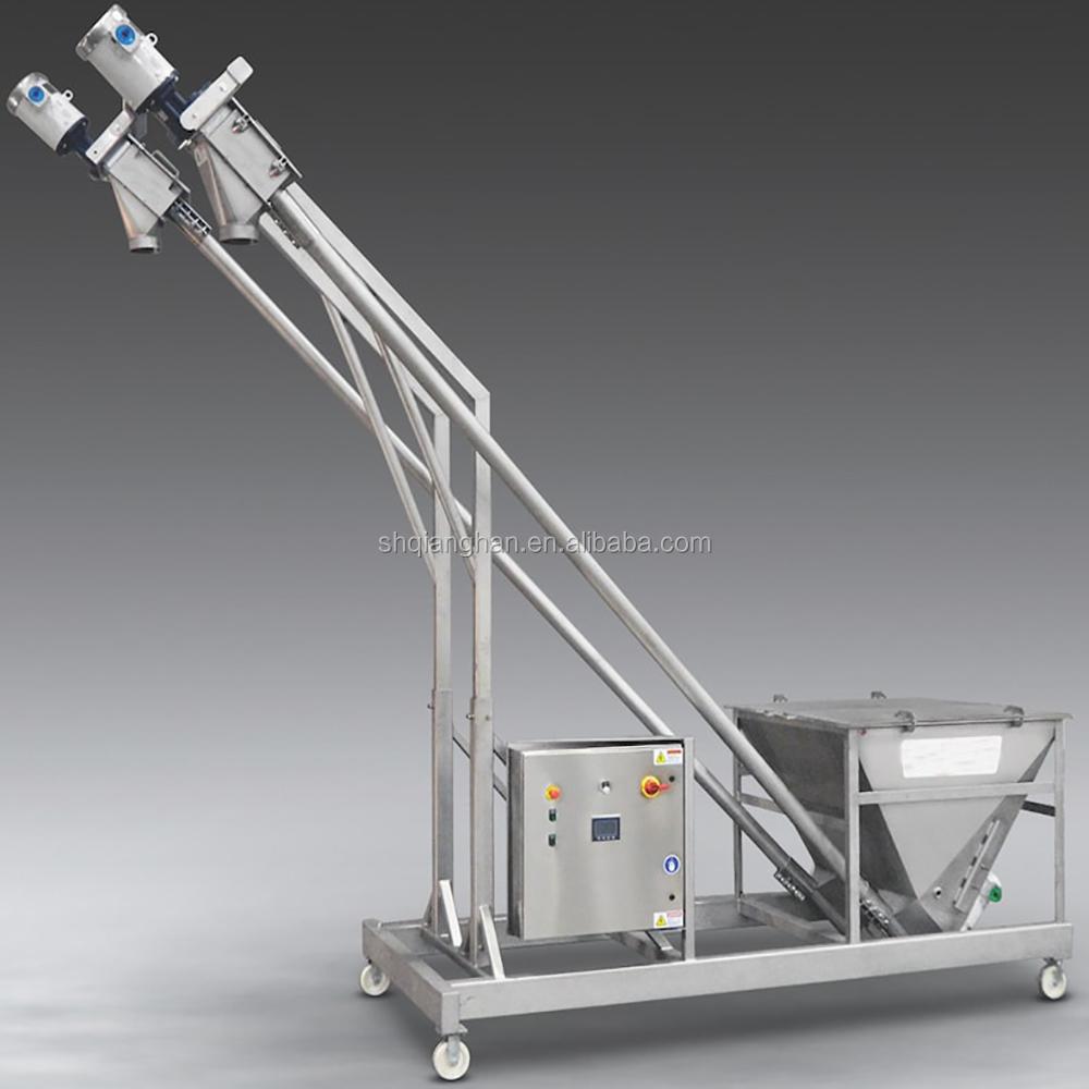 Small and medium sized bendable screw conveyor