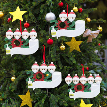 Wholesale Factory Stocked Christmas Tree Ornament Family 2020 Christmas Ornament