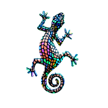 Painting Hanging Gecko Metal Wall Art Home Decor For Living Room Bathroom