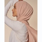 Wholesale Shawl Scarf Women Hijab 2021 Wholesale Customize Solid Color Polyester New Design Chiffon Shawl Muslim Woman Chiffon Hijab Scarf With Magnet And Pin