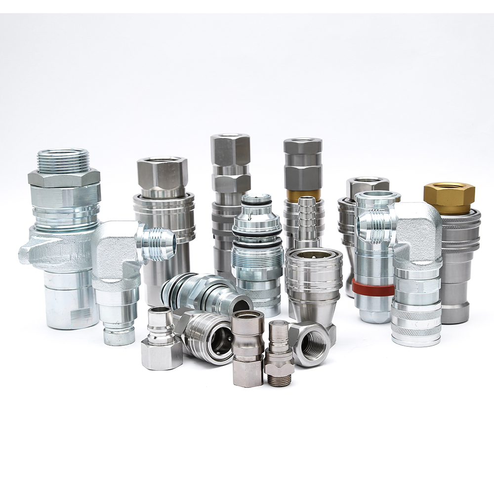 BSP close type hydraulic quick connector high pressure quick  coupling