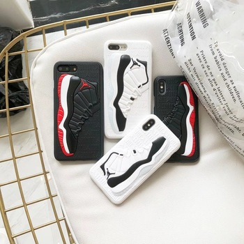 3D NBA Air Dunk Jordan Sports Basketball Shoes Soft Phone Cases For iphone 6 6S 7 8 Plus X XS XR MAX 10 Back Case
