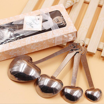 4pcs Measuring Spoons Set Event Party Supplies Return Gift Wedding Favors Gift for Guests