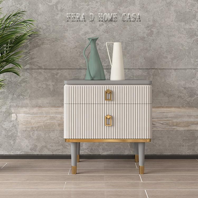 EUROPEAN design night stand solid wood bedside cabinet for bedroom