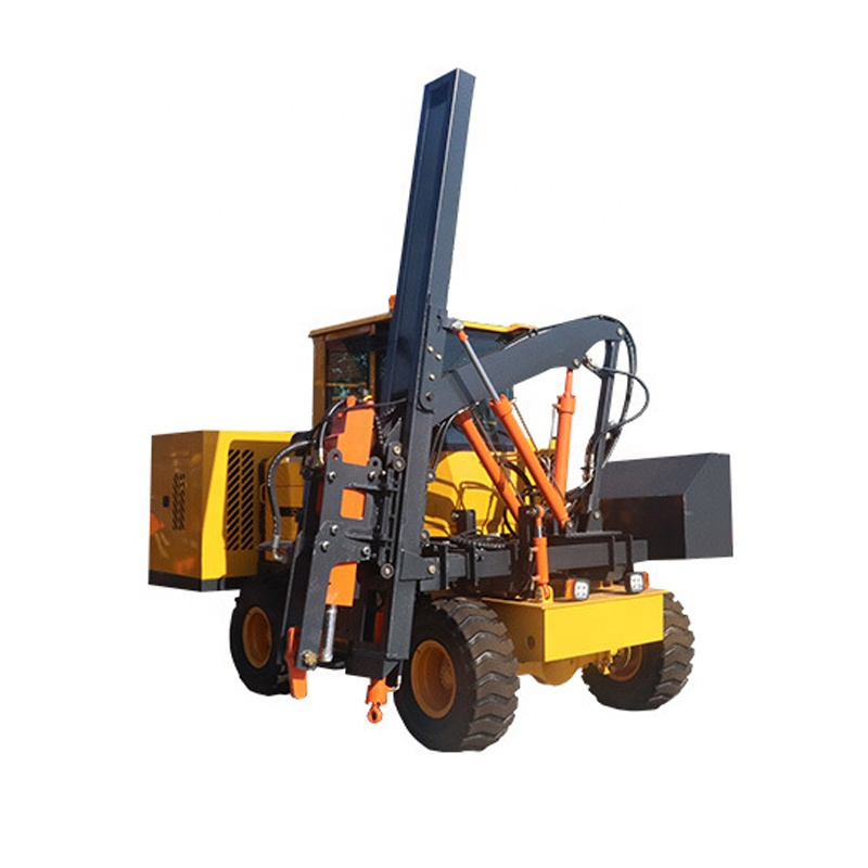 highway guardrail Pile Driver