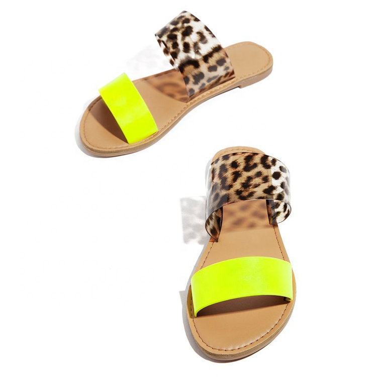 Hot sale women slide sandals neon custom ladies slippers and sandals