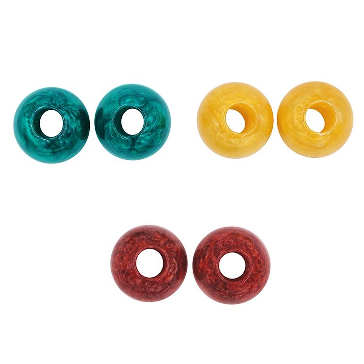 Оптовая продажа, 30 мм, модные массивные бусины из эпоксидной смолы в полоску для браслетов, ювелирных изделий