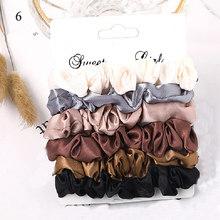 4-6 шт./лот 2019 простые базовые эластичные резинки для волос держатель для хвоста резинка для волос для девочек женские аксессуары для волос(Китай)