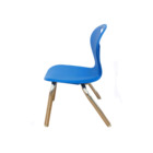 Chairs School PP Plastic Back Chairs With Steel Leg And Universal Foot For School