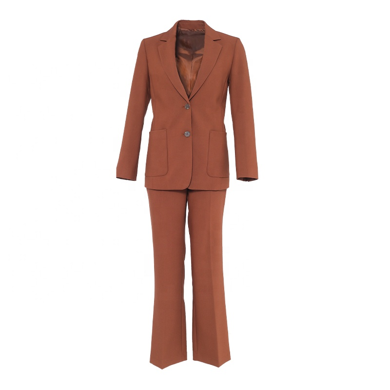 Huiquan slim and simple tailored suits for woman office-ready look lady suits