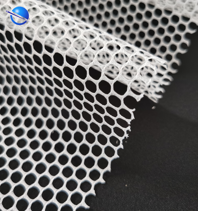 High Quality Wholesales 100% polyester  hexagonal  net mesh fabric  for running shoes