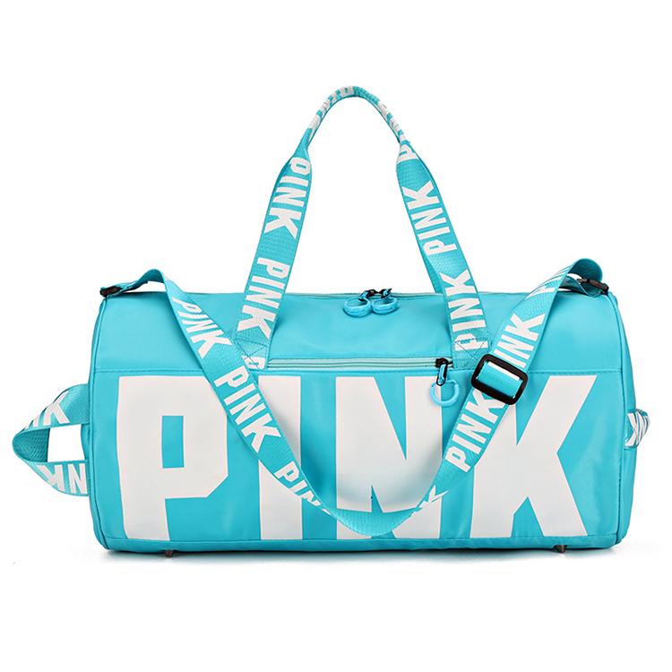 Custom Promotional travel luggage storage duffel bag sport pink gym outdoor yoga tote bag