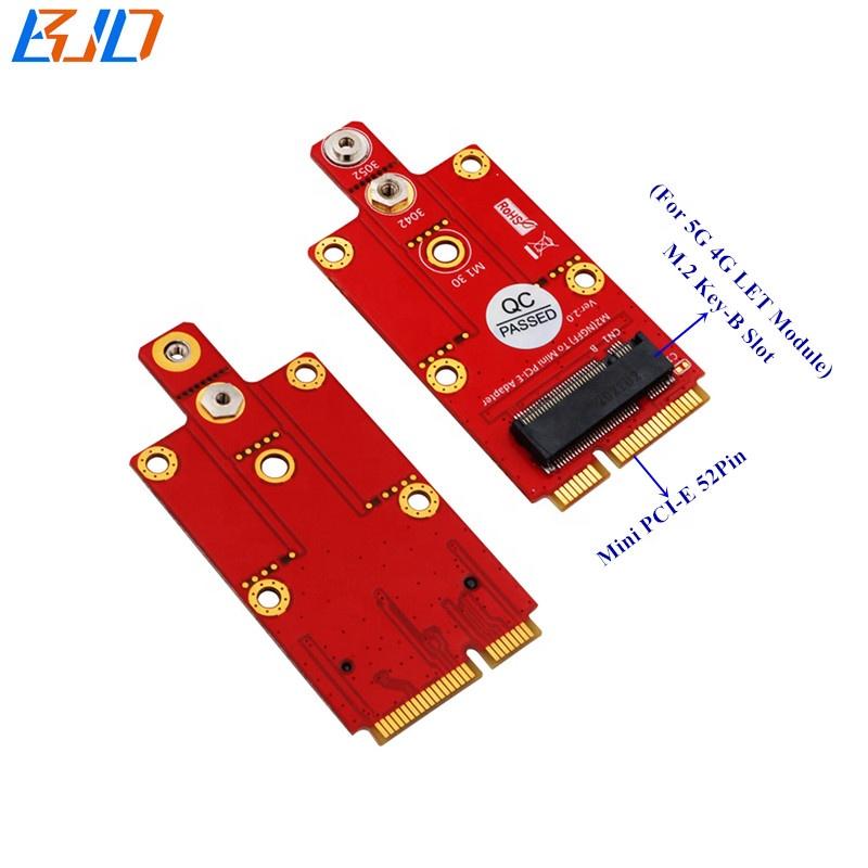 New Product 5G 4G LTE Wireless Module Adapter M.2 NGFF Key B Key-B Slot to Mini PCIe MPCIe Converter Riser Card
