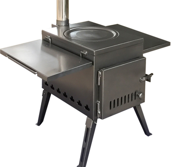 Portable freesatnding steel outdoor camping heating cooking smokeless wood burning stove for tent