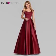 Темно-Синие атласные вечерние платья Ever Pretty EP07934NB, Элегантные Длинные Формальные платья а-силуэта с v-образным вырезом, 2020(Китай)