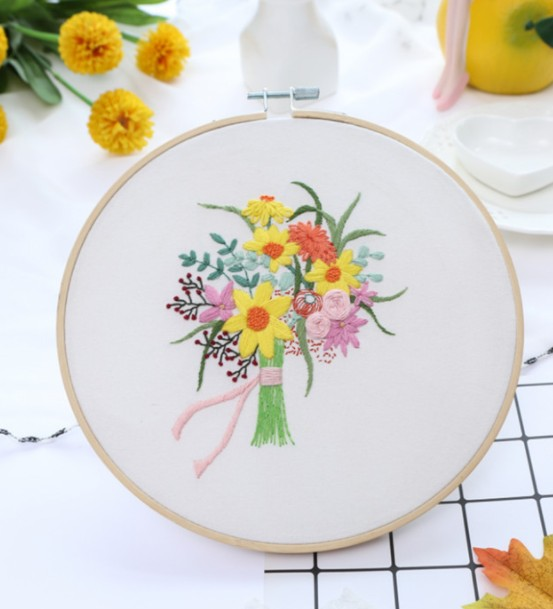 HOTsale AMAZON 2020 hand diy embroidery kit for adults starter kit with instructions flowers and leaf HOTsale AMAZON 2020 hand diy embroidery kit for adults starter kit with instructions flowers and leaf