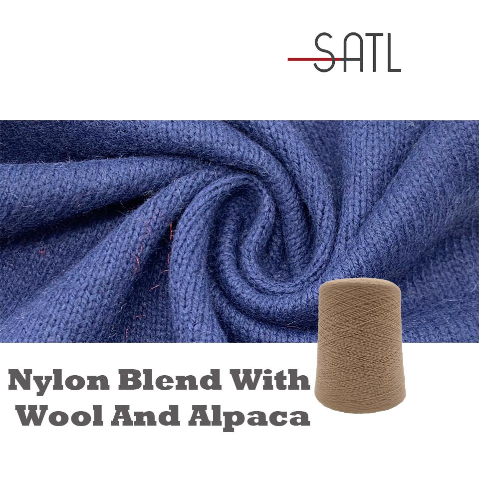 Wholesale 75%Nylon 15%Wool 10%Alpaca Blended Knitting Woolen Yarn 2/18nm