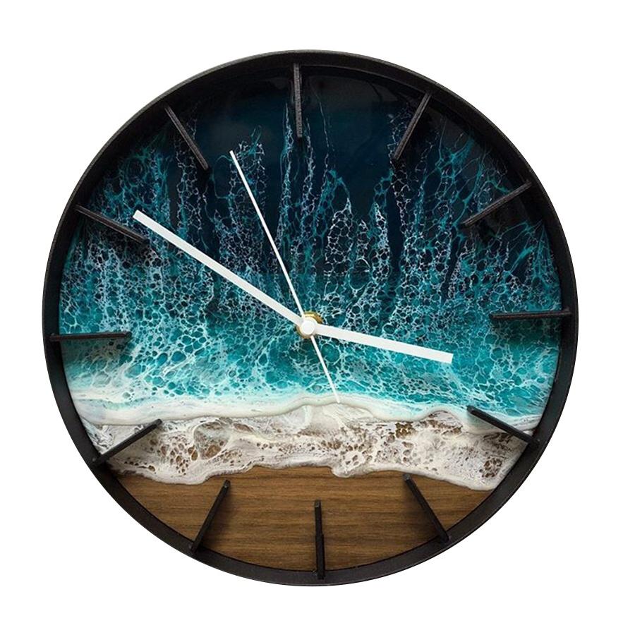 Trendy Epoxy Wall Clock Handmade Scenic Resin Wall Clock Latest Big Sea  Inspired Resin Clocks Made Of Wood Resin For Home Decor   Buy Scenic Clock  ...