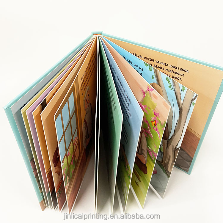 Custom Hard Soft Cover Book Paper Paperboard Adult Coloring Board Children Hardcover Book Printing Service For Kids Educational