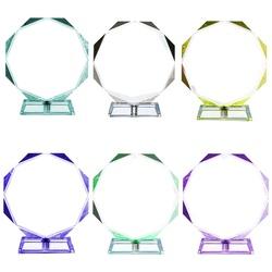 2021 New Design Optical Transparent Octagonal K9 Blank Crystal Glass Trophy Personality Custom Crystal Award Trophies