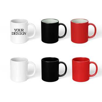 Sublimation custom logo print 11oz simple white coffee cups ceramic mug white to sublimate