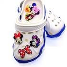 Stock Cartoon Design PVC Rubber Shoe Charms Decorations For Clog Shoes