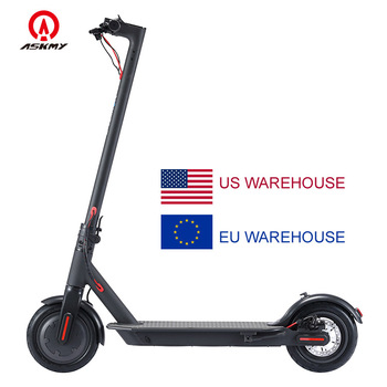 ASKMY EH600 Fast Foldable LED Electric Scooter 8.5 Inch Air Filled Tires Kick Scooter Adults Eletria Foot Scooters US EU Stock
