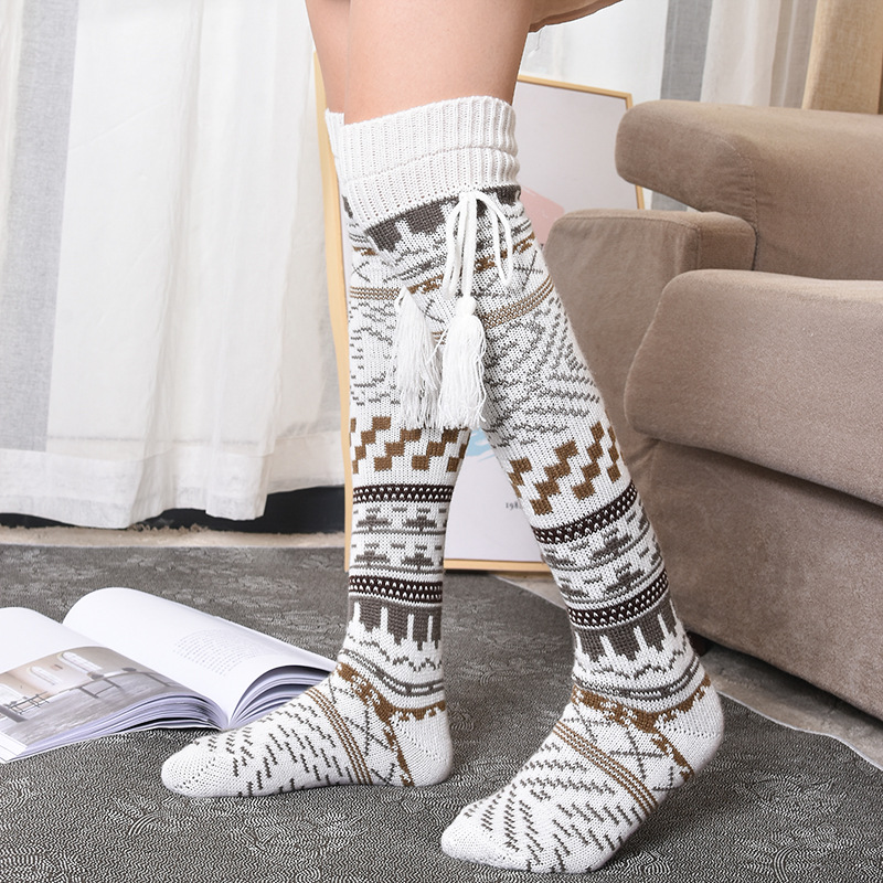 Warm and comfortable Christmas stockings in winter