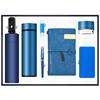 Blue-umbrella+vacuum flask+usb+pen+notebook+speaker+power bank