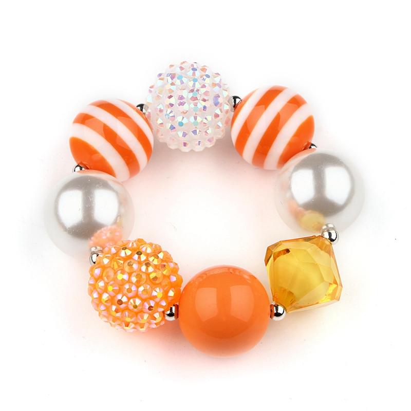 Ожерелье + браслет для девочек на Хэллоуин, День благодарения, комплект из 2 шт.