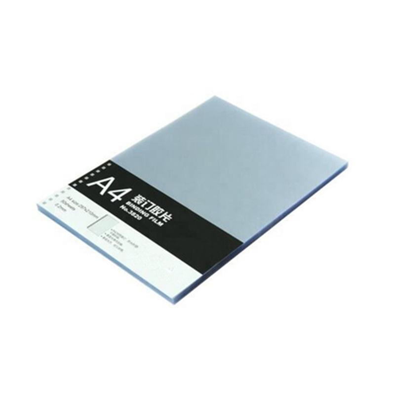 Профессиональный производитель Хрустальный ПВХ лист a4 с термообвязкой