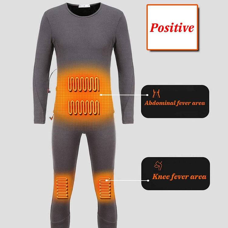 100% polyester fiber on the outside 95% polyester fiber and 5% spandex on the inside Heating Underwear for Winter