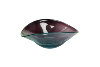colored glass fruit bowl