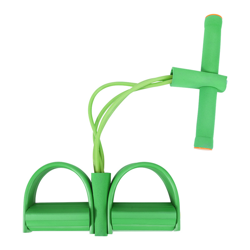 Four-tube pedal leg yoga rally curling home bungee rope resistance band body fat reduction fitness equipment