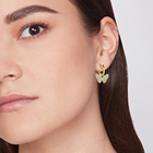 Hoop KRKC Wholesale 2021 Fashion Summer Cute Small Jewelry 14K Gold Plated Drop Charm Butterfly Hoop Earrings For Women