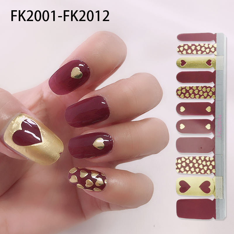 2020 hot sale Nail Art Stickers  champagne Metallic Gold Nail Jel Strips Factory direct sales