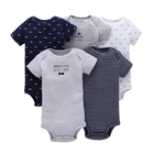 Cotton Baby Clothes Cheap Summer Short-Sleeve Cotton 5Pieces Baby Bodysuit Newborn Baby Clothes Toddler Clothing Baby Boys Clothes