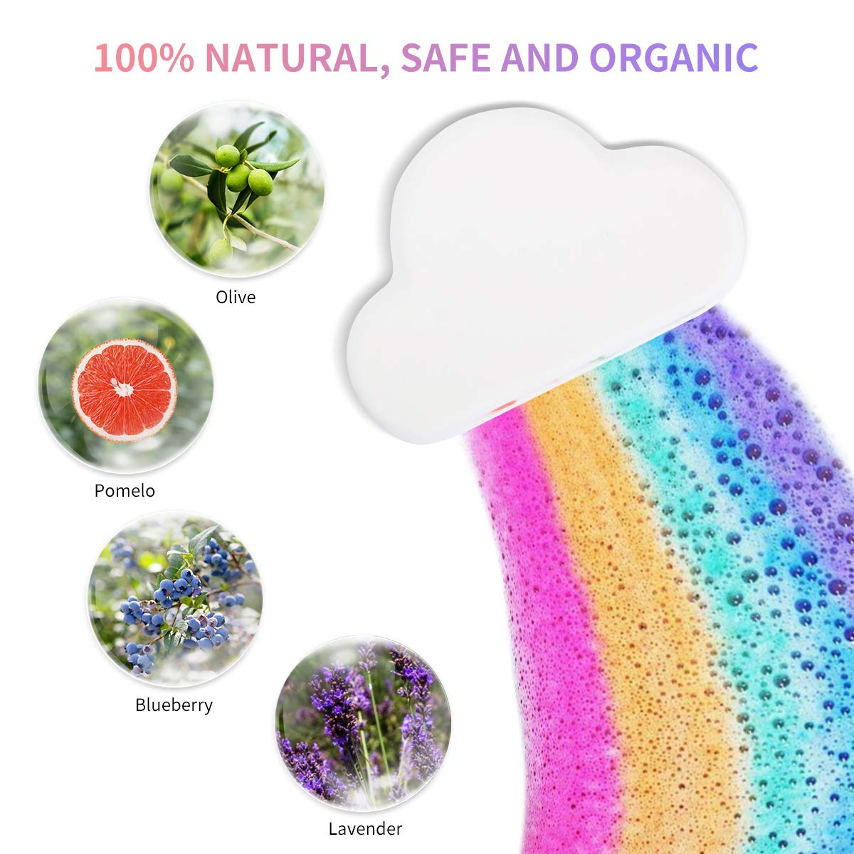 Wholesale Custom Gift Box Rich Bubble Sweet Cute Private Label Vegan Handmade Luxury Natural Fizzy cbd Organic rainbow Bath Bomb