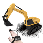 2.4Ghz Remote Radio Control Toy Construction Vehicle Truck , Excavator Toy Gesture Control Induction, Mini RC Excavator for Kids